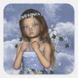 Fairy Angel Maddie Square Sticker