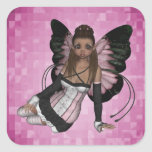 Fairy Angel Pamela Square Sticker