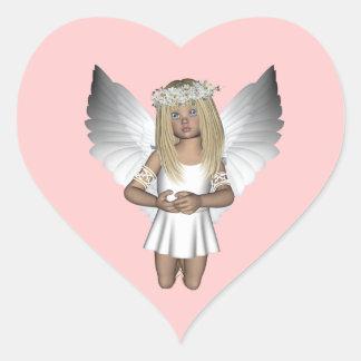 Fairy Angel Purity Heart Sticker