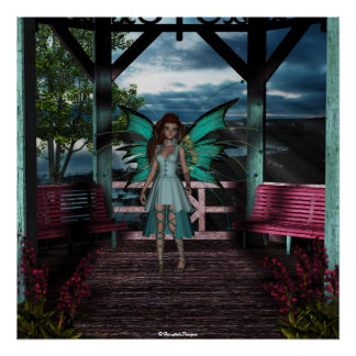 Fairy Aqua Blythe Poster