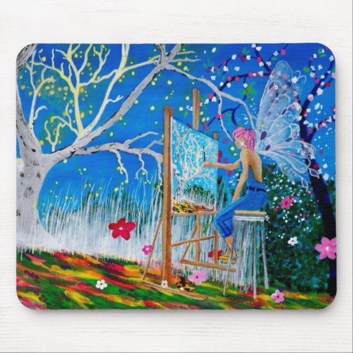 Fairy Artist Faery Mouse Pad