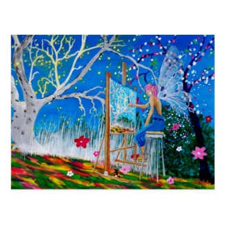 Fairy Artist Faery Postcard