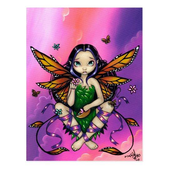 """Fairy at Sunset"" Postcard"