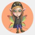 Fairy Aviator Classic Round Sticker