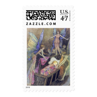 Fairy Baby Blessings by Warwick Goble Postage