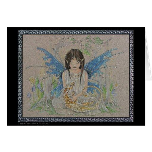 Fairy & Baby Dragon Greeting Card