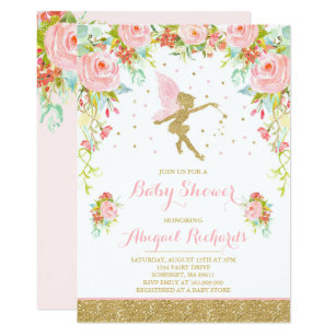 Fairy Baby Shower Invitation Fl