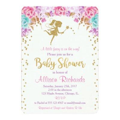 Fairy Baby Shower Invitation Zazzlecom