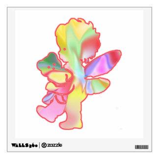 Fairy Baby With Teddy Bear Wall Sticker