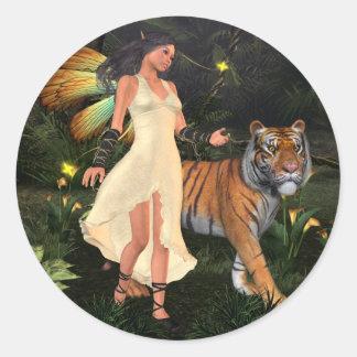 Fairy Beastmaster Classic Round Sticker