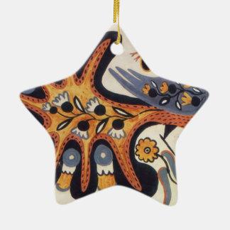 Fairy bird peacock 1936 ceramic ornament