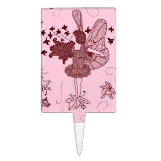 Fairy Birthday Cake Topper (Pink)