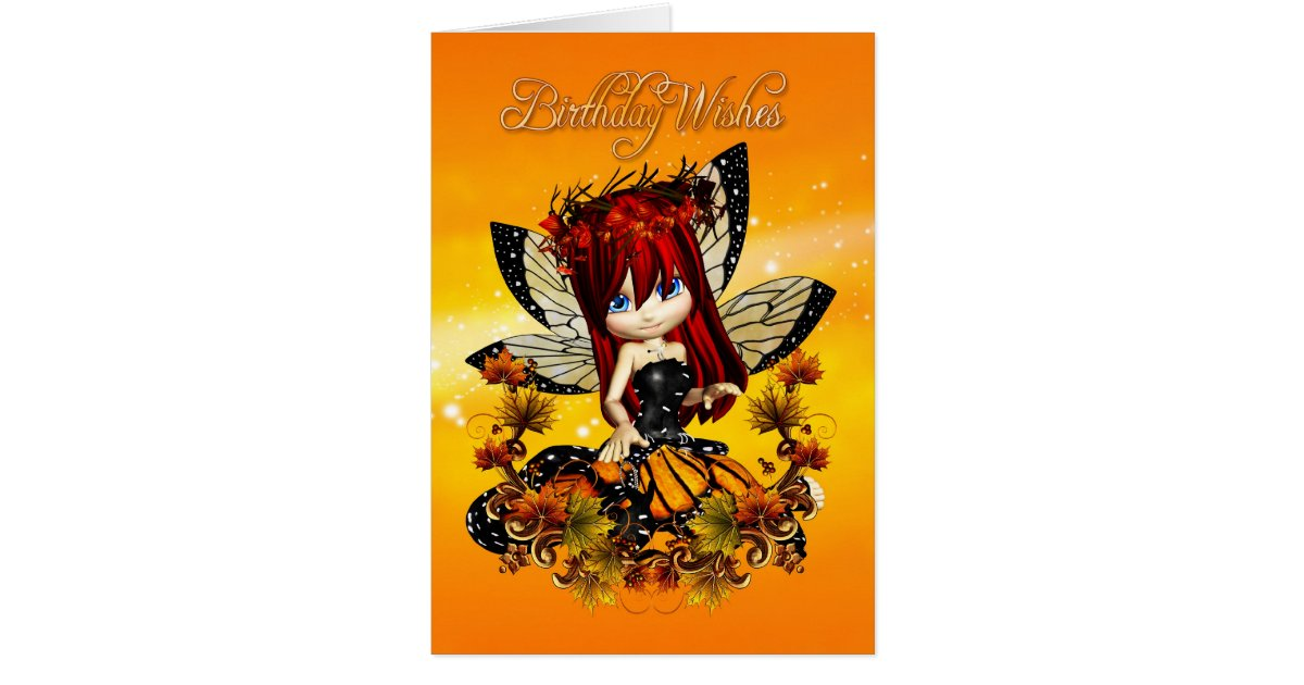 fairy birthday card