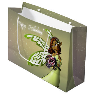 """Fairy Birthday Gift Bag - Large, Glossy"""