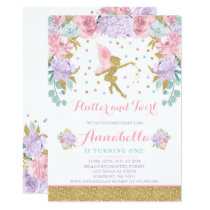 Fairy Birthday Invitation Whimsical Magical Party