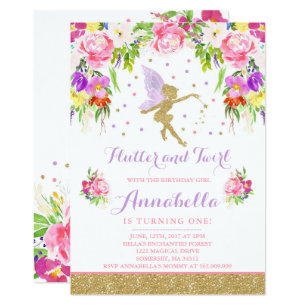 fairy birthday invitations zazzle .