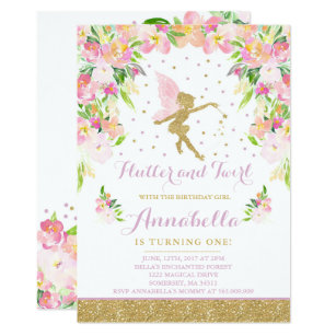 Fairy birthday invitations announcements zazzle fairy birthday invitation whimsical magical party filmwisefo Images