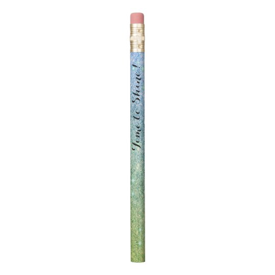Fairy Blue Glitter Green Sparkle Faux Shine Pencil