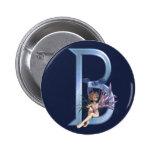 Fairy Blue Monogram B Button
