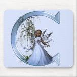 Fairy Blue Monogram C Mouse Pad