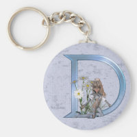 Fairy Blue Monogram D Keychain