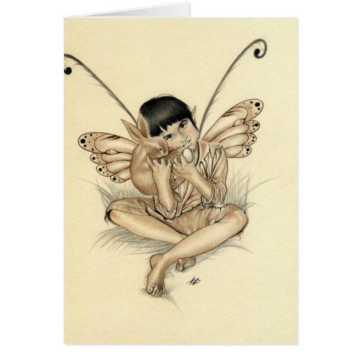Fairy Boy Bunny Card