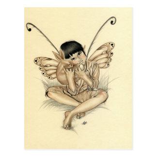 Fairy Boy Bunny Postcard