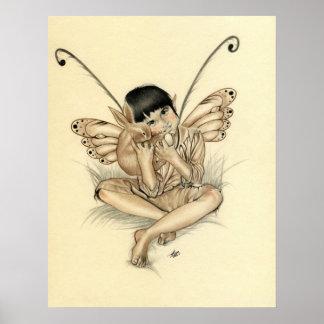 Fairy Boy Bunny Poster