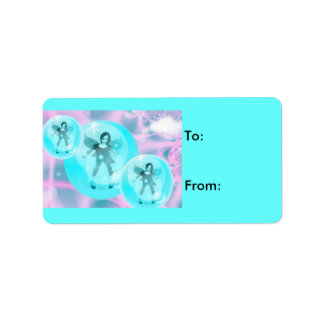 fairy bubble magic Gift tags Custom Address Label