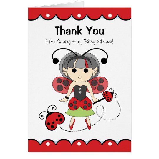 Fairy Bug Thank You For Coming To My Baby Shower Zazzle