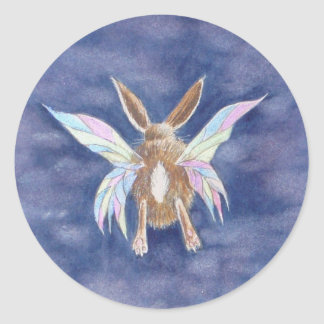 Fairy Bunny  Round Sticker