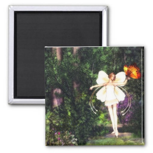 Fairy butterfly dance magnet