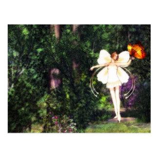 Fairy Butterfly Dance postcard