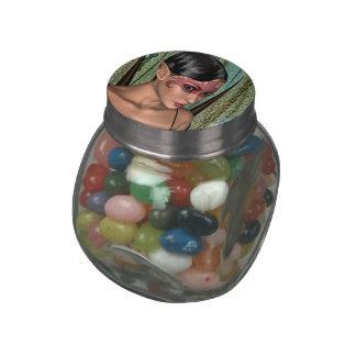 Fairy Butterfly Glass Candy Jar