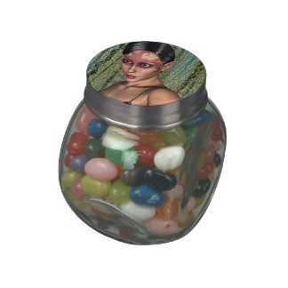 Fairy Butterfly Glass Candy Jars
