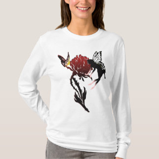 Fairy & Butterfly on rose hoodie