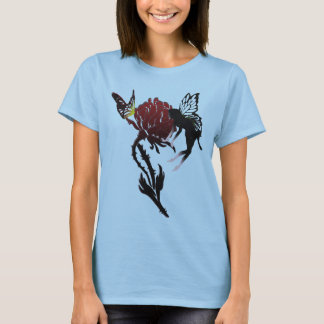 Fairy & butterfly on rose T-Shirt