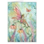 Fairy Butterfly Watercolor Art Card