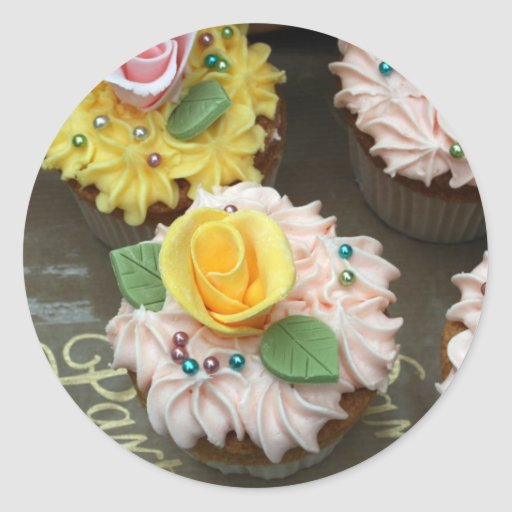 Fairy cakes classic round sticker