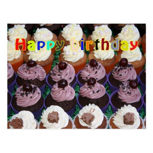 Fairy cakes - Happy Birthday Postcard
