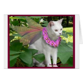 Fairy Cat 4.psd Greeting Card