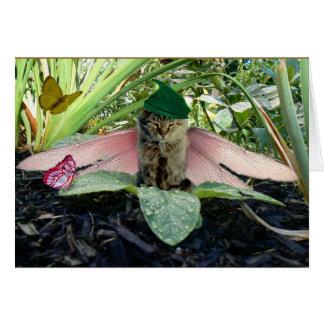 Fairy Cat Elf Notecard