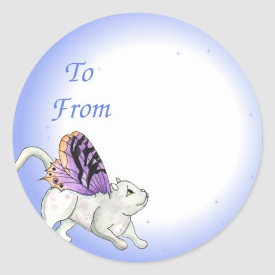 Fairy Cat Gift Tag