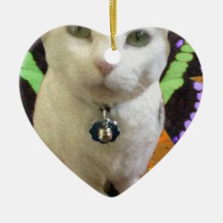 Fairy Cat Heart Ornament