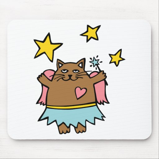 Fairy Cat Mouse Pad