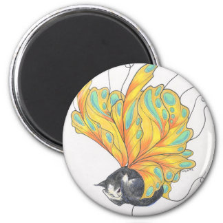 Fairy Cat Nap ©1998 2 Inch Round Magnet