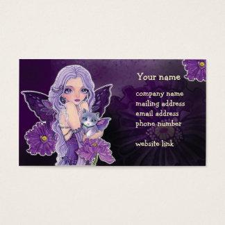 "Fairy  & Cat ""Poppy Night Adventure"" Business Card"