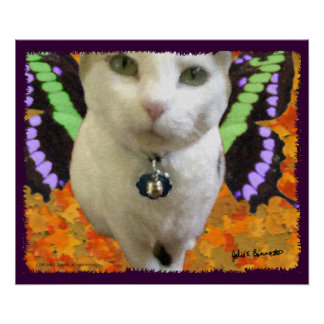 Fairy Cat Poster/Print