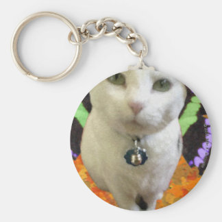 Fairy Cat Round Keychain