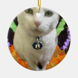 Fairy Cat Round Ornament